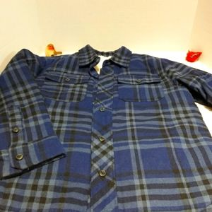 ON faux sherpa lined flannel jacket